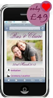 free mobile wedding invitations invitation demo mobile wedding invitation