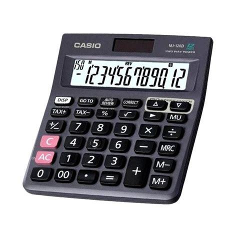 Kalkulator Casio Mz 12s 12 Digit jual casio mj 120 kalkulator harga kualitas terjamin blibli