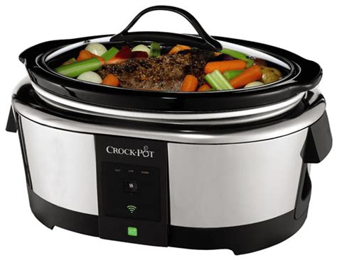 brilliant remote wifi crock pot slow cookers crock pot with wemo the smart wifi enabled slow cooker