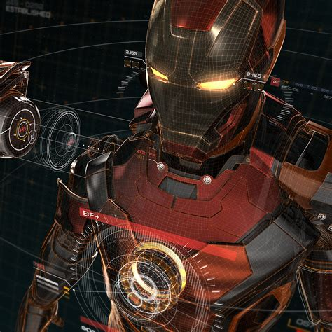wallpaper hd android avengers aq05 ironman 3d red game avengers art illustration hero