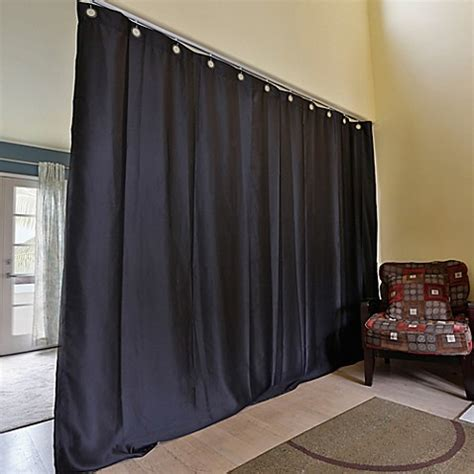 room divider curtain track buy room dividers now medium ceiling track room divider kit a with 8 foot curtain panel in black