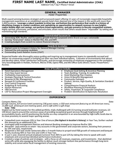 Resume Target Inc Toronto by Hotel Manager Resume Sle Template