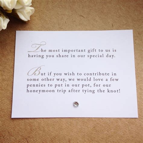 Wedding Gift List Poems by 105 X Custom Wedding Poem Cards For Invitations Money