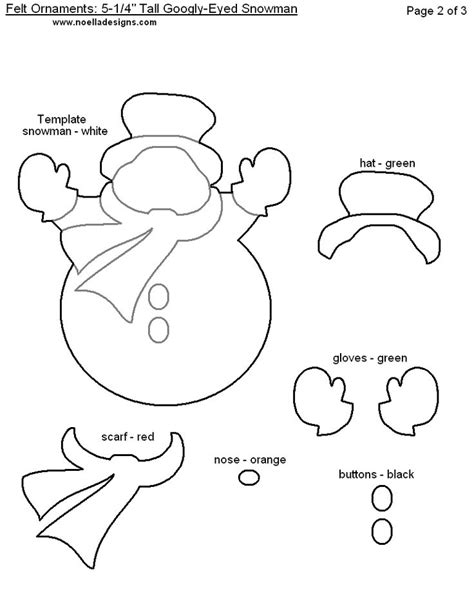 free felt templates snowman ornament template search results calendar 2015
