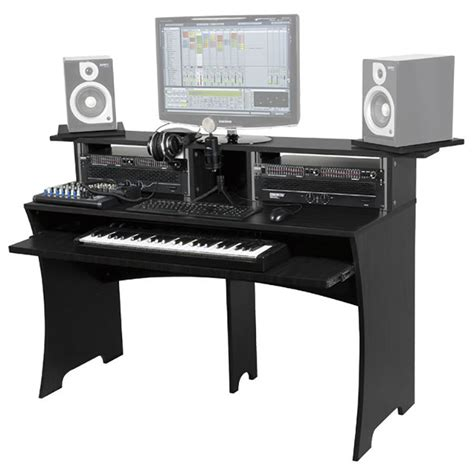 workbench recording studio furniture desk with rack unit