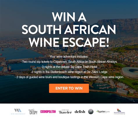 Win A Wine Knot And A Subscription To Wine Spectator by Win A Wine Adventure In South Africa Sport News