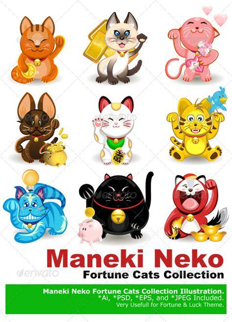 Maneki Neko Fortune Cat Maneki Neko Fortune Cat Collection By Branca Escova Graphicriver