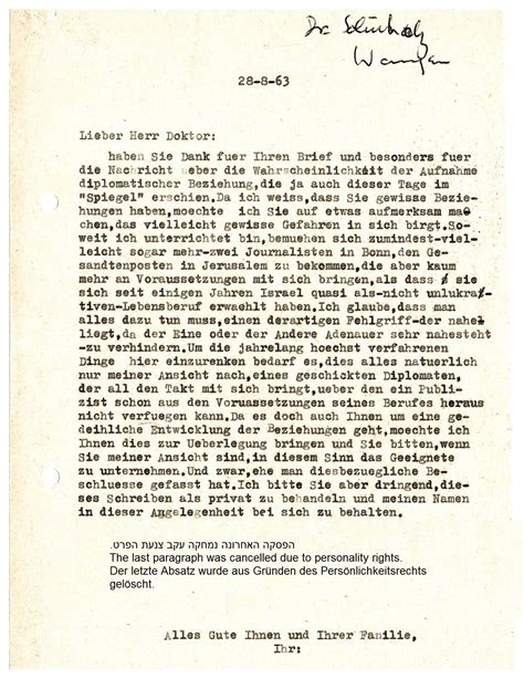 Offer Letter German Letter Of The Author Moshe Yaakov Ben Gavriel To His Friend In Germany Regarding The Future