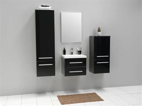 modern wall cabinet simple black bathroom cabinets and storage units placement