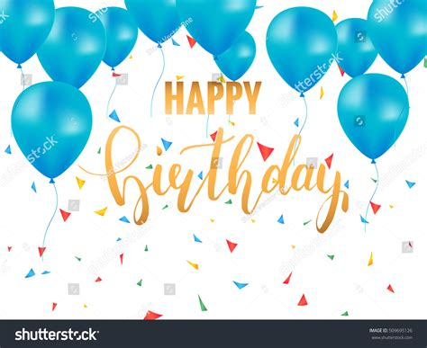 happy everything card template happy birthday card template golden brush stock vector