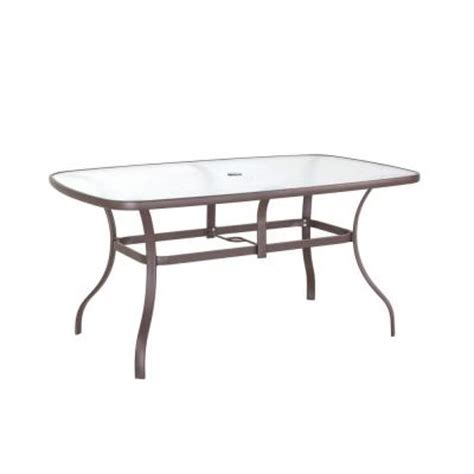 Patio Table Glass Replacement Home Depot Navona 38 In X 60 In Rectangular Glass Top Patio Dining