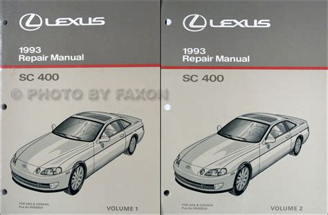 auto repair manual online 1993 lexus sc instrument cluster 1992 1993 lexus ls400 and sc400 automatic transmission repair manual original