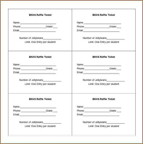 ticket forms templates ticket forms templates 28 images 8 raffle tickets