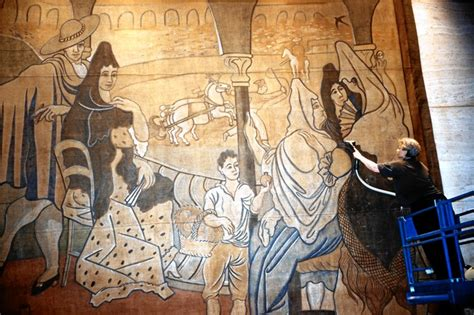 picasso curtain four seasons picasso s unmovable feast wsj