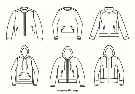 jacket layout vector jackets hoodies and sweater outline vector design