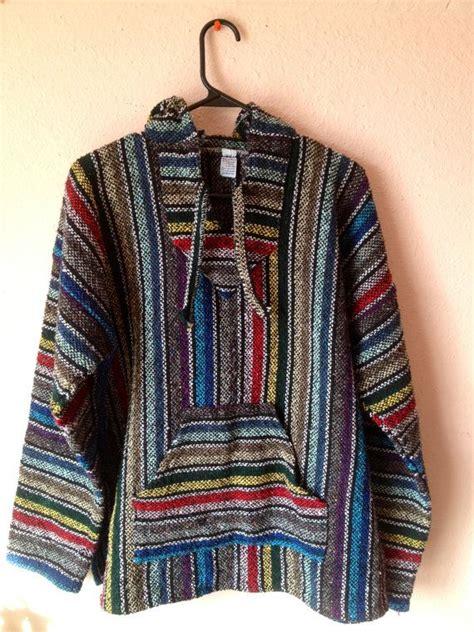 vtg mens   drug rug rainbow striped pullover