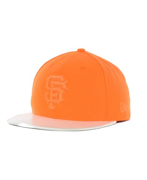san holo uk ktz san francisco giants holo fitted 59fifty cap in orange