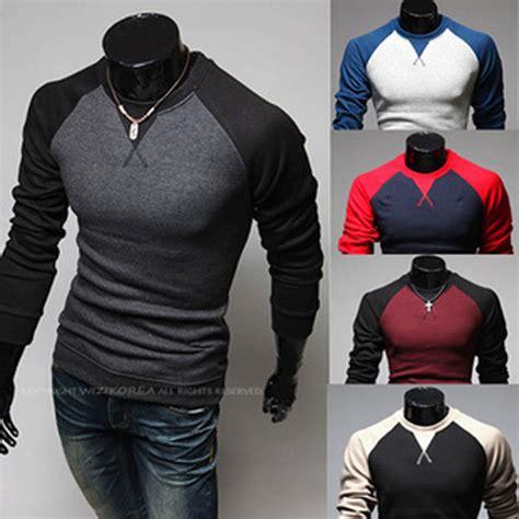 guitar blue pattern style men s clothing t shirts s m l xl men s t shirts fashion long sleeve v neck style t shirt