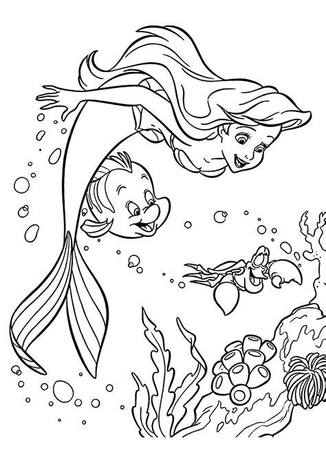 card mermaid coloring templates sebastian and ariel coloring pages for printable