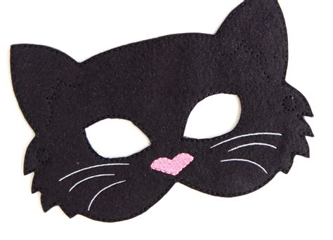 How To Make A Cat Mask Out Of Paper - kinder katze maske schwarze katze kost 252 m filz maske