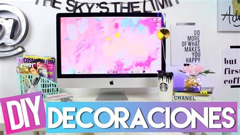 decorar escritorio pc que hay en mi escritorio diy decoraciones youtube