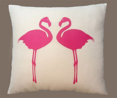 Pink Flamingo Pillow by Two Pink Flamingo Pillow Made Decorative Throw