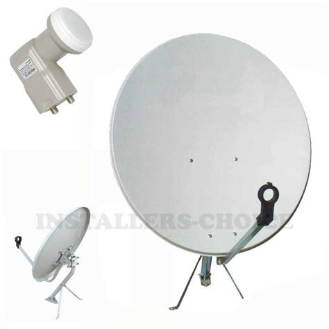 30 quot inch satellite tv dish fta antenna mount dual ku band lnb ebay
