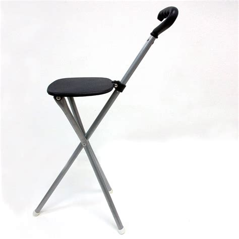 Portable Walking Chair by Portable Folding Walking Travel Stick Blue Soft Stool