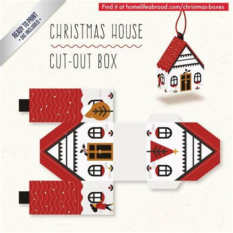 templates for xmas boxes christmas house cut out box with ready to print