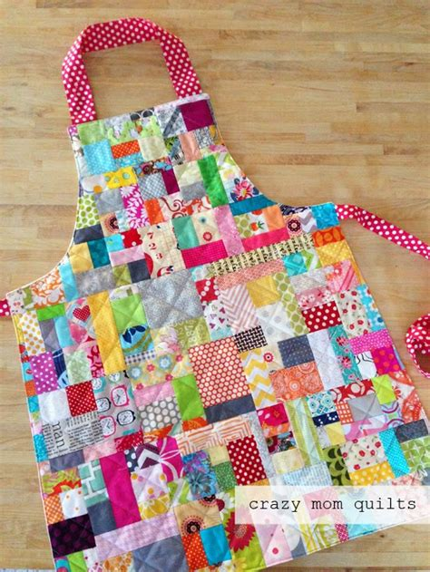 Patchwork Apron Pattern - scrap happy apron quilts apron