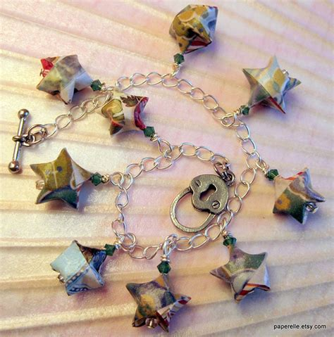 Origami Bracelet Charms - catalog origami charm bracelet made from pottery barn