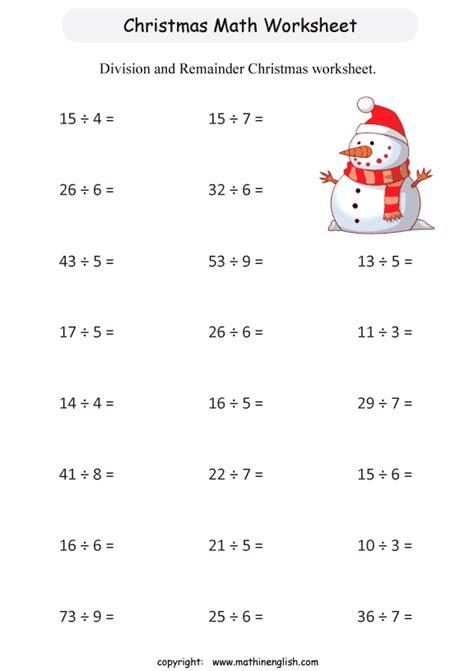free printable christmas division worksheets christmas math worksheets for 3rd graders 3rd grade