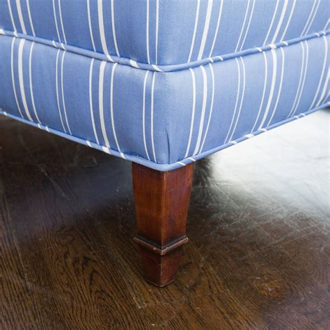 blue striped chair and ottoman crboger com blue and white ottoman blue and white