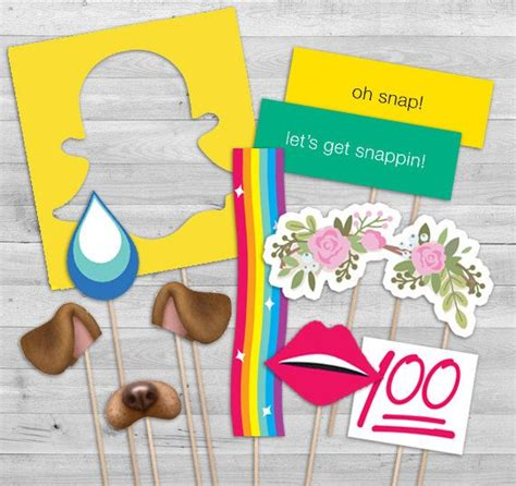 printable photo booth props snapchat snapchat party invitation and photo booth props by