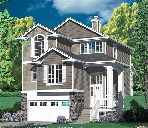 architectural home designs multi level craftsman plan 69296am architectural designs house plans