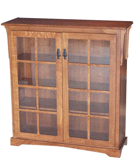 Bookcase With Doors Medium Mission Bookcase With Doors Amish Direct Furniture