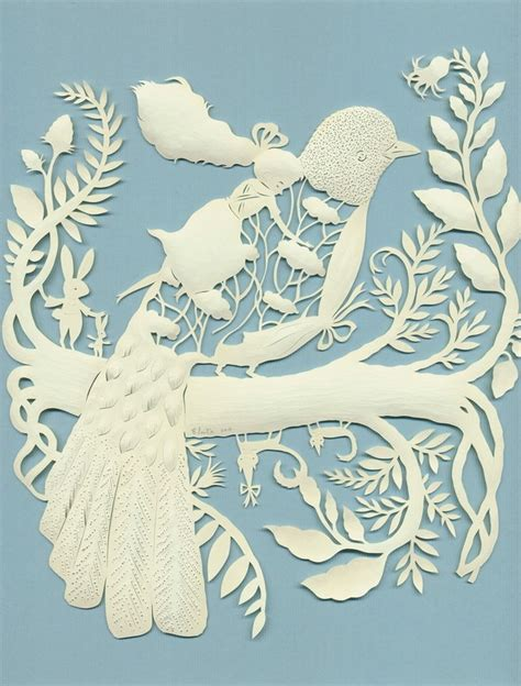 Paper Cutting Craft Work - papercut bird arte gt gt con papel papercut