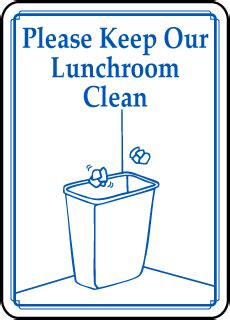 office kitchen sign to keep clean