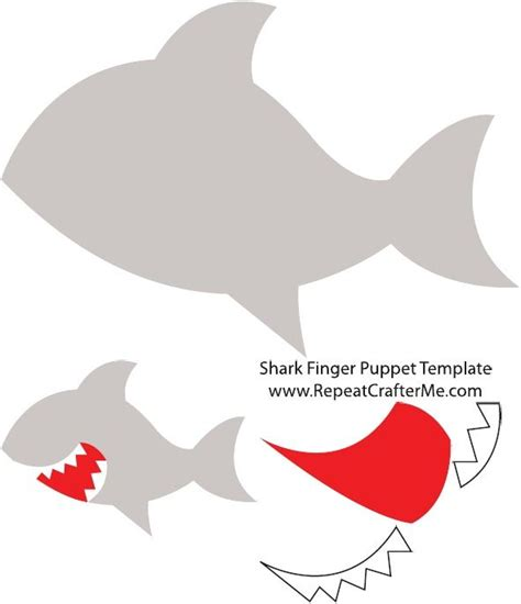 baby shark template shark finger puppet template scribd mint 225 k templates