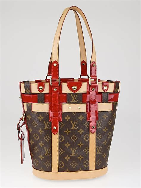 louis vuitton limited edition monogram rubis neo bucket