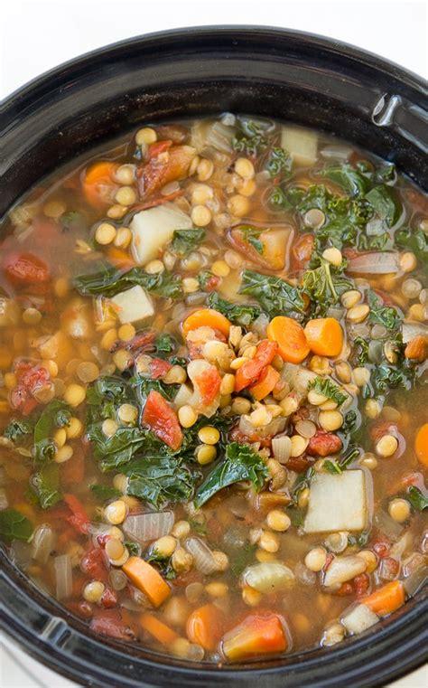 vegetables in crock pot crock pot vegetable lentil soup