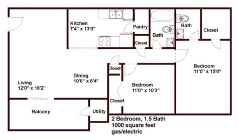 1000 Sq Ft Apartment | floor plans pricing