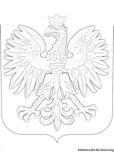 polish eagle coloring page herb polska kolorowanka kolorowanki dla dzieci