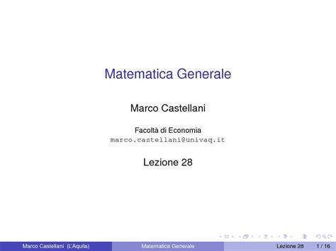 dispense matematica generale spazi di prodotto scalare dispense
