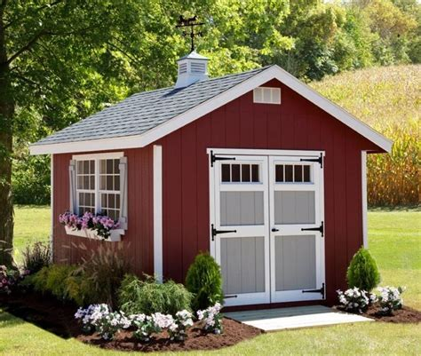 amish homestead tiny house shed kit  outdoor garden
