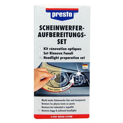 Scheinwerfer Polieren Politur by Scheinwerfer Aufbereitungs Set Presto Reparatur Politur