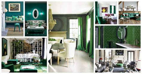 Emerald Green Interiors by The Color Green Restful For Brown Hairs