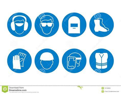 imagenes simbolos de proteccion s 237 mbolos de la seguridad de construcci 243 n ilustraci 243 n del