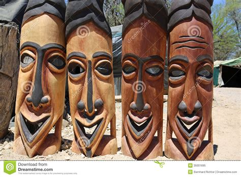 african masks editorial image image  namibia namibian