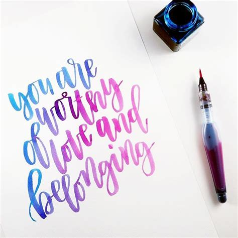 watercolour quotes tutorial best 25 watercolor lettering ideas only on pinterest